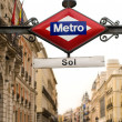 Subway or Metro sing y Puerta del Sol. Madrid, Spain - Stok fotoğraf