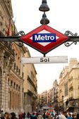 Subway or Metro sing y Puerta del Sol. Madrid, Spain — Stock Photo