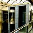 Elevator in modern and futurist building — Stock Photo