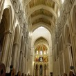 Cathedral of Almudena in Madrid, Spain. Principal dome - Stockfoto