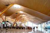 New terminal T4. Barajas airport, Madrid. — Stock Photo