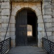 Door of Chinchón Castle in Madrid. Spain - Stock Photo