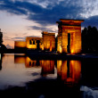 Stock Photo: Temple of Debod in Madrid at night