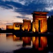 Temple of Debod in Madrid at night — Foto Stock
