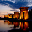 Temple of Debod in Madrid at night - Photo