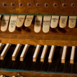Classic organ keyboard and keys to changing instrument - 