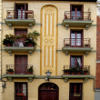 Typical building of old Madrid — Stock Photo