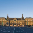 South facade of Louvre Museum. View from Pont du Carrousell, Par — Stock Photo