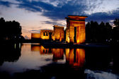 Temple of Debod in Madrid at night — Stock Photo