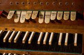 Classic organ keyboard and keys to changing instrument — Stock Photo