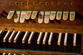 Klasik org klavye ve enstrüman değiştirme tuşları — Stok fotoğraf