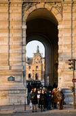 South facade of Louvre Museum. View from Quai François Mitterran — Stock Photo