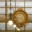Stock Photo: Orsay Museum. Clock in Principal Gallery. Paris