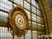 Orsay Museum. Closeup of the Clock. Paris — Stock Photo