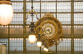 Orsay Museum. Clock in the Principal Gallery. Paris — Stock Photo
