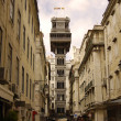 Santa justa elevator in Lisbon. Portugal - Stock Photo
