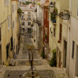 Stock Photo: Typical street from Lisbon in Portugal