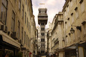Santa justa elevator in Lisbon. Portugal — Stock Photo