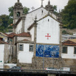 Massarelos church view from the river douro. Porto, Portugal — Stock Photo #8552859