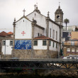 Massarelos church view from the river douro. Porto, Portugal — Stock Photo #8552876