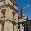 Square of Pope John XXIII next to the Cathedrals of Salamanca, Spain — Stock Photo