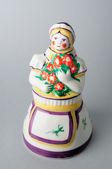 来自 alentejo-葡萄牙陶瓷的女人.figure. — 图库照片