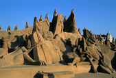 Festival of sand ZEEBRUGGE-BELGIUM — Stock Photo