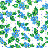 Vector pattern with forget-me-not flowers — Stock Vector