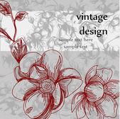 Vintage design of floral card — Stock Vector