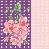 Vector cute pink flowers — Stock Vector