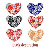 Set of lovely decoration — Stock Vector