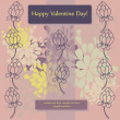 Card design for Valentine Day - Imagen vectorial