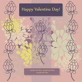 Diseño de la tarjeta para el día de San Valentín — Vector de stock