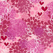 Vector pink pattern for Valentine day — Stock Vector