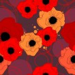 Vector poppy pattern — Stockvektor #8845805