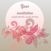 Design de convite romântico — Vetor de Stock