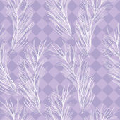Vintage seamless pattern with feathers and diamond-shaped ornament — Stock Vector