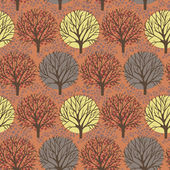 Vector trees seamless pattern — Stock Vector