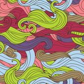 矢量无缝纹理质朴风格与多彩的波浪 — 图库矢量图片