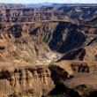 A detail of the east side the fish river canyon south namibia — Stock Photo