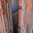 Door in kolmanskop's ghost town namibia — Foto Stock #8302408