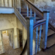 Stockfoto: Staircase of abandonned house at kolmanskop near luderitz namibia