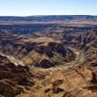 Central view of the fish river canyon south namibia africa - Stock Photo
