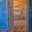 Stock Photo: Desert taking over town of kolmanskop ghost town namibia