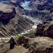 View of the fish river canyon south namibia africa - Zdjęcie stockowe