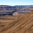West view of the fish river canyon south namibia africa — Stock Photo