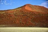 A big orange dune at Sossusvlei Namib Naukluft Park — Стоковое фото
