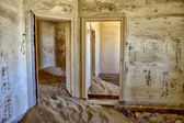 A dune in a house at kolmanskop ghost town namibia africa — Stock Photo