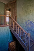 A staircase in a old house in kolmanskop namibia africa — Stock Photo
