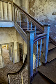 A staircase of an abandonned house at kolmanskop near luderitz namibia — Stock Photo